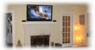TV installation and flat panel television